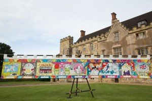 EDITORIAL USE ONLY Illustrator Liz Pichon unveils a sequel to the Bayeux Tapestry, commissioned by English Heritage, to mark the 950th anniversary of the Battle of Hastings in 1066, at Battle Abbey in East Sussex. PRESS ASSOCIATION Photo. Picture date: Monday August 1, 2016. The Kids' Tapestry features the top 10 moments in English history since 1066, as voted for by children. Created by Liz, The Kids' Tapestry will tour English Heritage sites this summer and children are invited to submit their own illustrations to complete the final panel. Photo credit should read: David Parry/PA Wire
