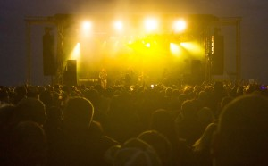 Madness performing on Hastings Pier last summer