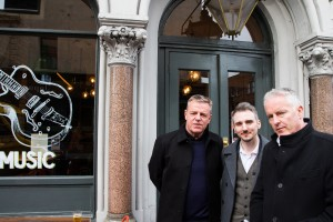 Suggs, James Tobias (actor) and Tim Firth (play write). Photo by The Umbrella Rooms