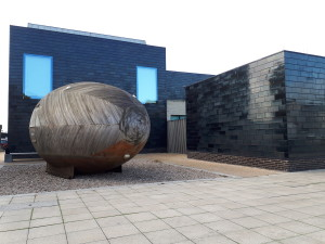 The Exbury Egg in situ at the Jerwood Gallery