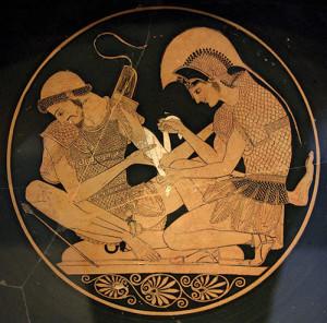 Achilles & Patroklus; Painted by Sosias c500 BCE